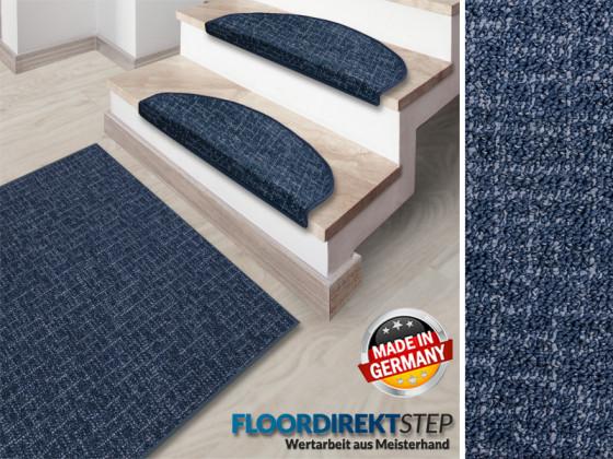 blauer teppichl ufer f r den flur. Black Bedroom Furniture Sets. Home Design Ideas
