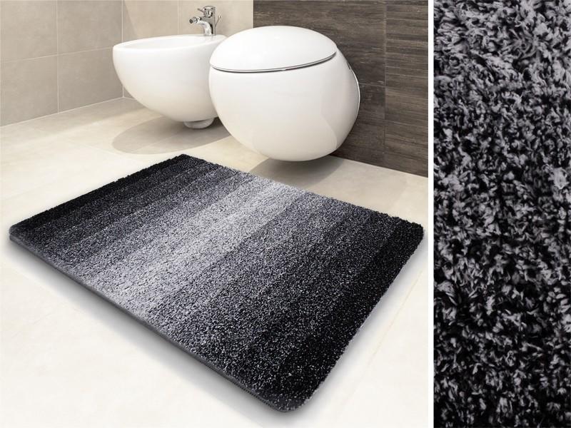 Schön anzusehen und unglaublich weich: die schwarzen Badvorleger Ombre