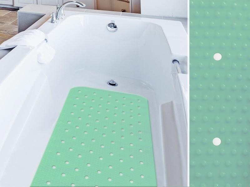 Die Badewannenmatten Relax bringen nicht nur Farbe ins Spiel, sie erhöhen auch die Sicherheit