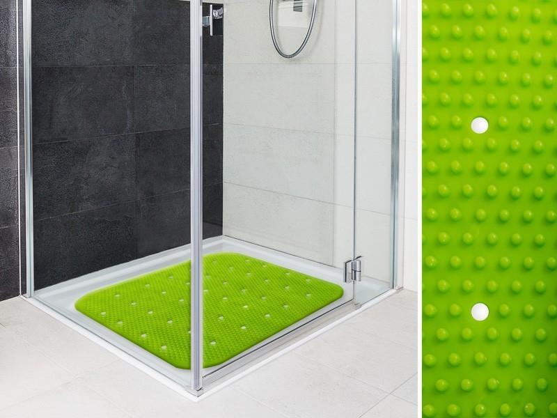 Die rutschfeste Duschmatte Relax bringt nicht nur Farbe ins Spiel, sie erhöht auch die Sicherheit