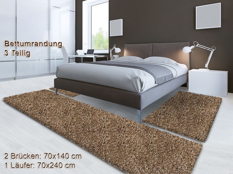 Bettumrandung beige