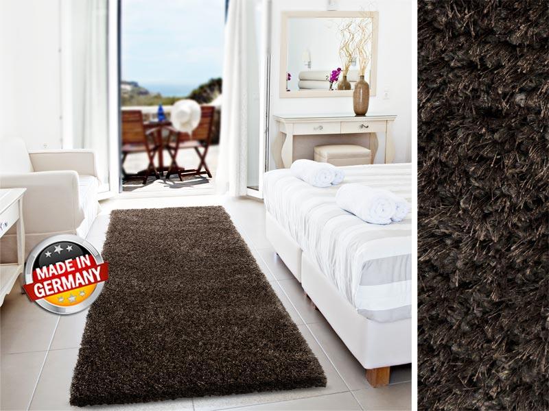 Gibt überall eine blendende Figur ab: Denver - unser Shaggy-Teppich in Braun