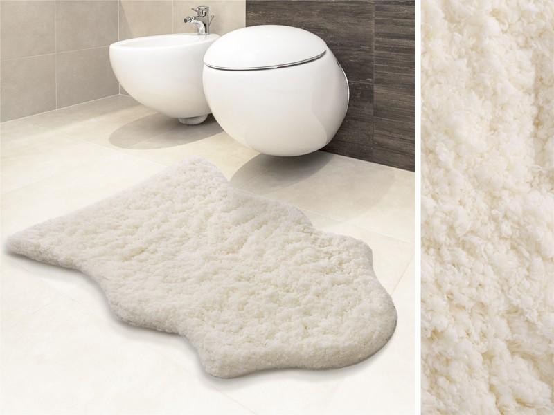 Auch als Badvorleger verwendbar: unser Kunstfellteppich