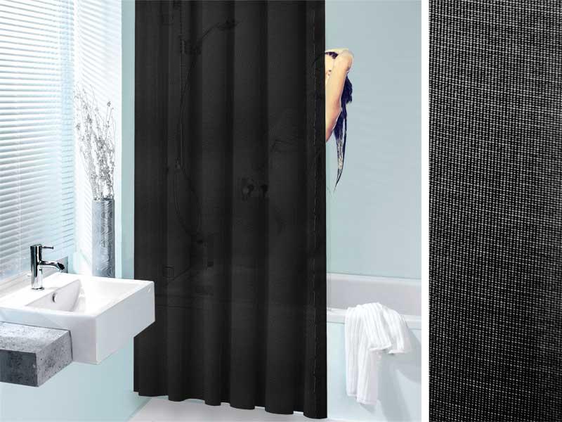 B ro wohnen und betrieb - Schwarzer duschvorhang ...