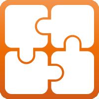 Diese Ringgummimatten können mit optional erhältlichen Verbindern erweitert werden