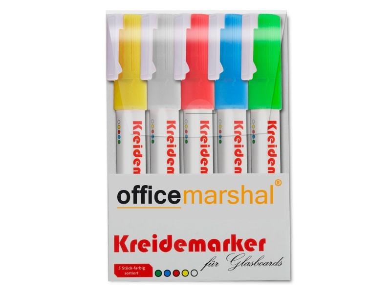 Kreidemarker - 5er-Set farblich gemischt
