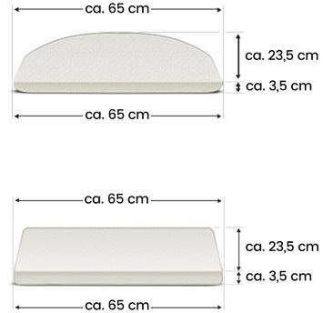 Treppenmatten|Treppenschutz|Treppenteppich Stufenmatte Memphis mit Glitzerfäden