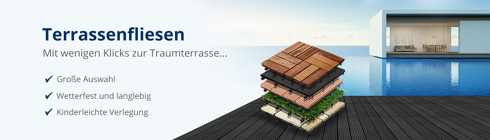 Terrassenfliesen Klickfliesen Ab Floordirektde - Klick fliesen balkon günstig