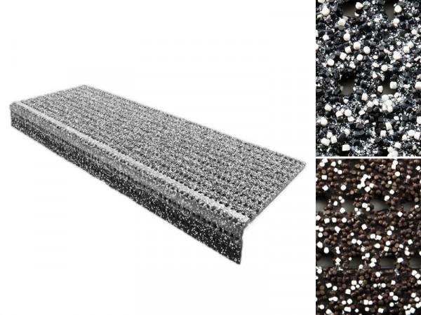 Sicherheits-Stufenmatte für Außenbereiche | Grau oder Braun