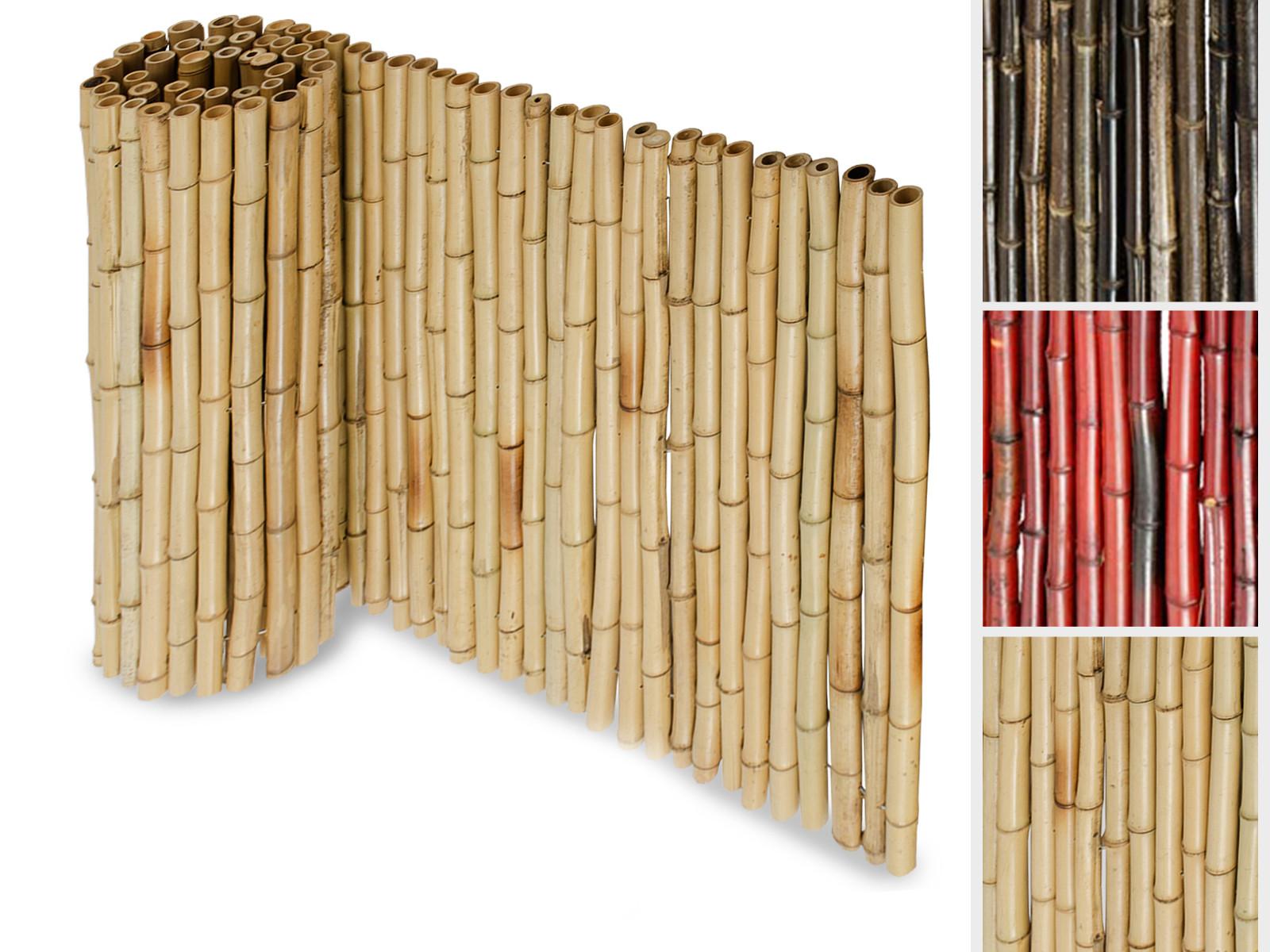 Sichtschutzzaun Aus Bambus Floordirekt De