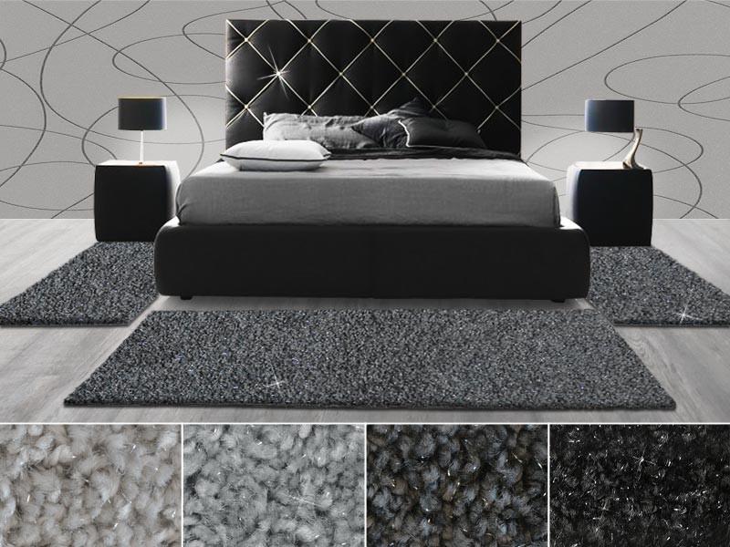 hochflor bettumrandung memphis mit glitzerf den. Black Bedroom Furniture Sets. Home Design Ideas