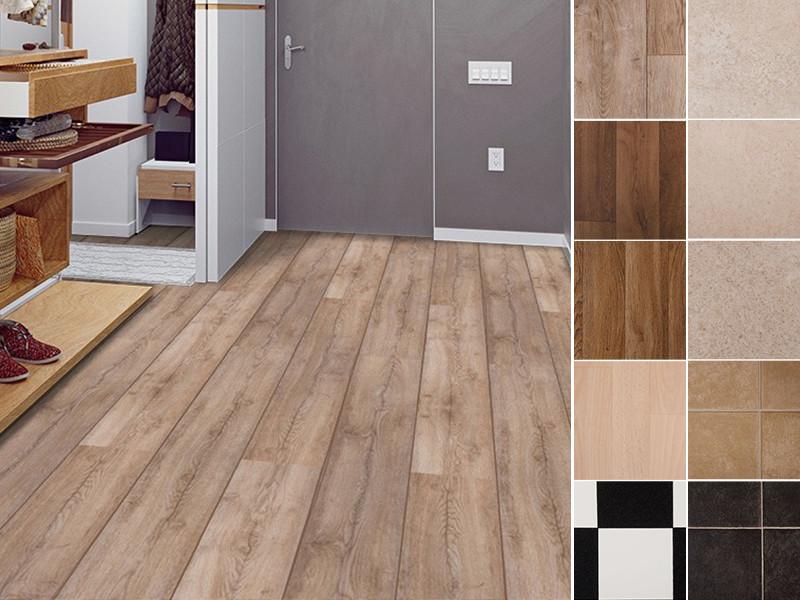 Floordirekt Damier PVC CV Vinyl Bodenbelag Breite 2m bis 20 Meter Länge
