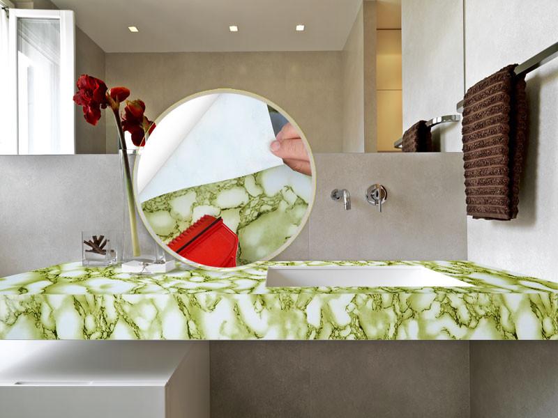 Selbstklebende Dekorfolie Marmor Kleine Maserung Floordirekt De