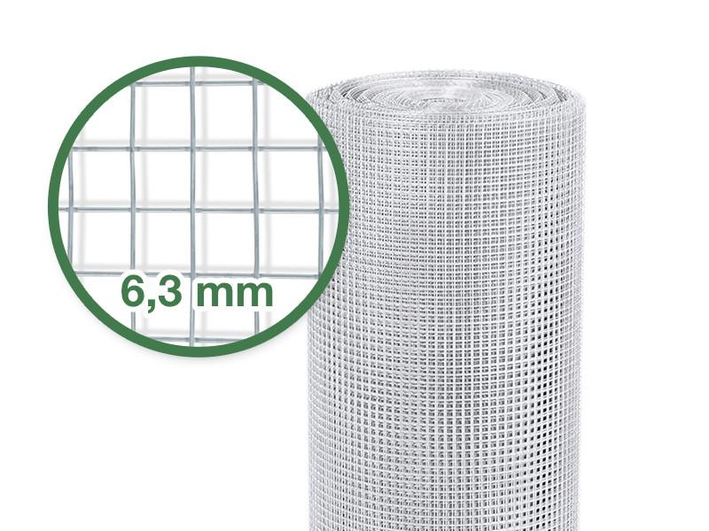 Drahtzaun 50 cm x 5 m, 2,8 kg Drahtgitter Floordirekt Volierendraht Verschiedene Gr/ö/ßen Verzinkt 4-Eck-Geflecht
