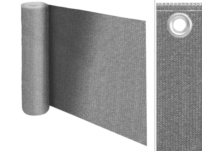 Balkonsichtschutz | einfarbig | grau | 90 x 500 cm