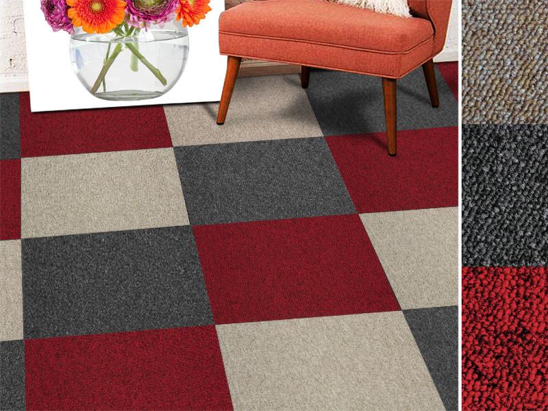 teppichfliesen vienna mit schlingenpol. Black Bedroom Furniture Sets. Home Design Ideas