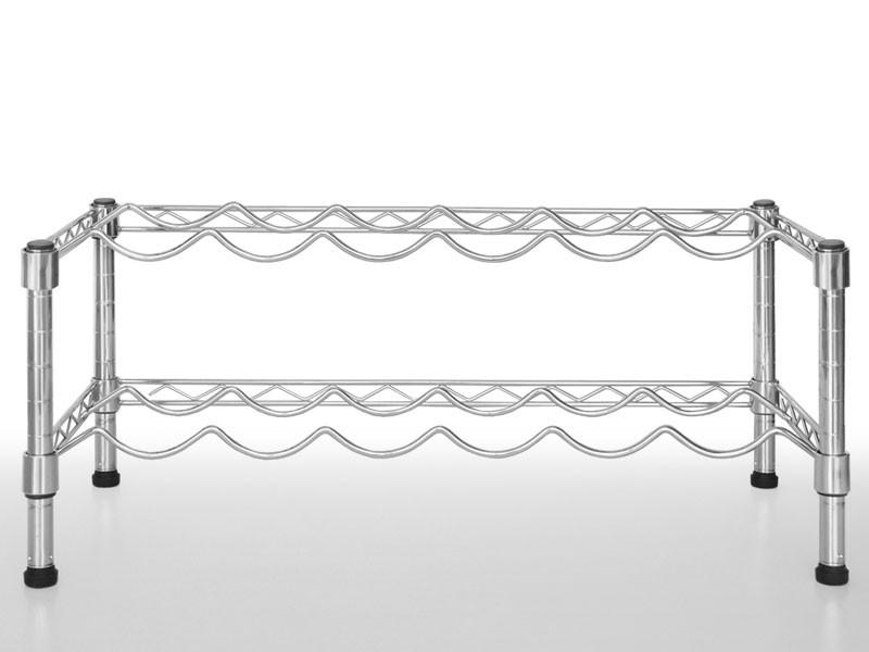 weinregal aus metall f r 12 oder 24 flaschen. Black Bedroom Furniture Sets. Home Design Ideas