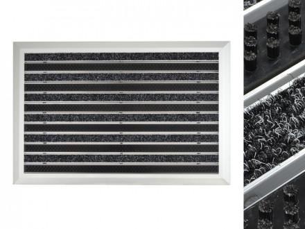 Alu-Türmatte   Spectral   Textilrips + Bürsten   Anthrazit / Schwarz   3 Größen