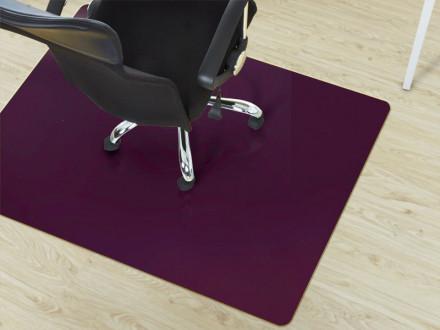 Bürostuhl-Unterlage Hartboden lila