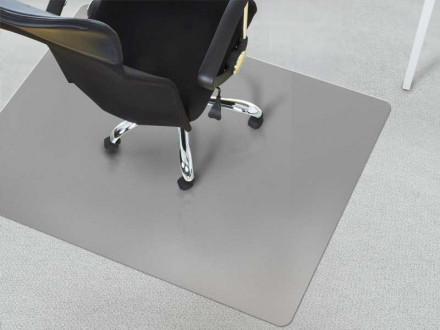Schreibtischstuhl-Unterlage Teppichboden grau