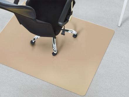 Unterlage für Bürostuhl Teppichboden beige