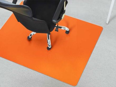 Bodenschutzmatte für Teppichböden orange