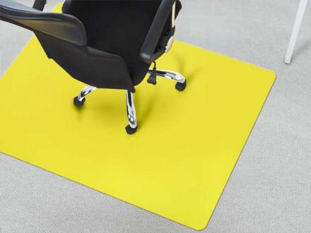 Fußbodenschutz Teppichboden gelb