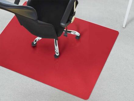 Bürostuhlunterlagen Teppichboden rot
