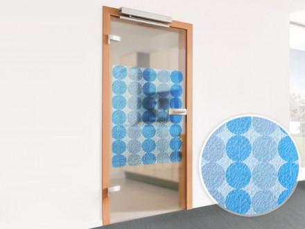Fensterfolie Kreise Blau Weiß