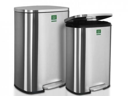 Mülleimer Dustin | Edelstahl | Automatische Schließfunktion | 2 Größen