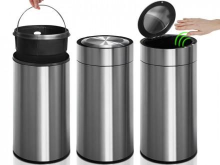 Mülleimer Ivan | Edelstahl | Mit Bewegungssensor | 30 Liter