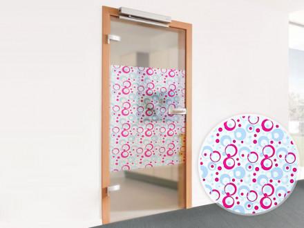 Glasfolien Loops rosa im Detail