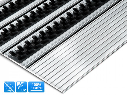 Turmatten Fussabtreter Aus Aluminium Edelstahl Floordirekt De