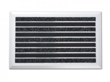 Alu-Türmatte   Optimum Mat   Textilfaser-Rips + Bürsten