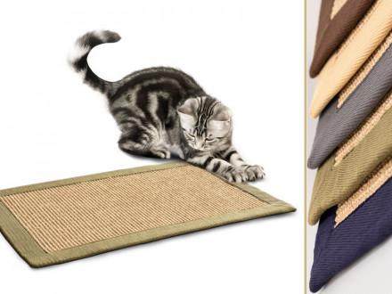 Kratzteppich für Katzen   Sisal   Verschiedene Bordürenfarben