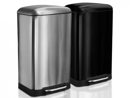 Mülleimer Cubo | Edelstahl | Automatischer Schließmechanismus | 2 Farben