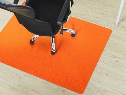 Schreibtischstuhlunterlage Hartboden orange
