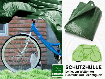 Fahrradabdeckung   230 x 120 cm   grün