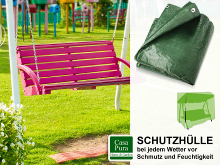 Schutzhülle Gartenschaukeln   2 Größen   grün