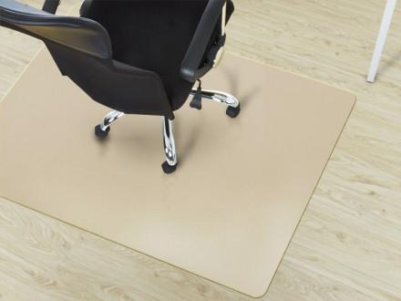 Bürostuhlunterlage für Hartböden beige
