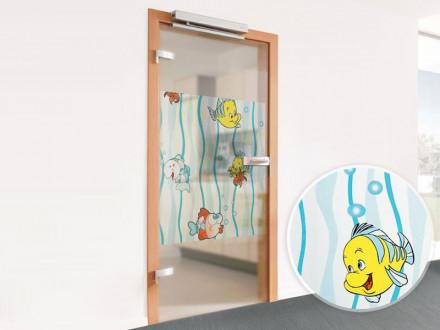 Klebefolie für Fenster mit farbenfrohen Fischen