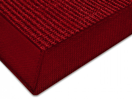 Sisal-Teppich rot