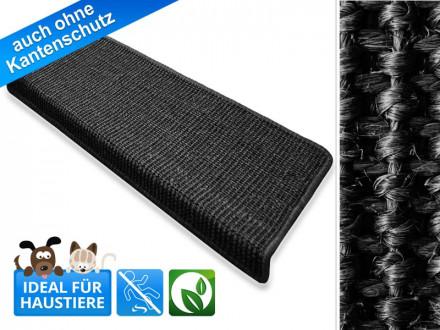 Sisal-Stufenmatten   Pure Nature   rechteckig   schwarz