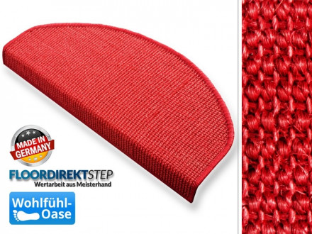 Stufenmatten Sisal rot
