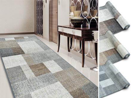 Teppich-Läufer auf Maß beige grau