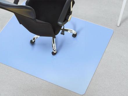 Unterlage Bürostuhl Teppichboden blau