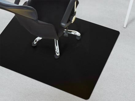 Unterlage für Schreibtischstuhl Teppichboden schwarz