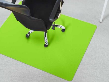 Unterlage Schreibtischstuhl Teppichboden grün