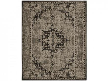 Flachgewebter Vintag-Teppich beige