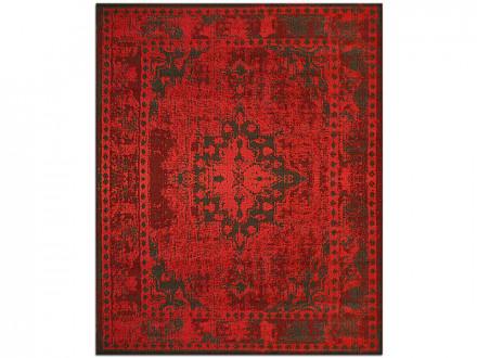 Flachgewebter Vintag-Teppich rot